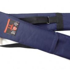 Чехол плотный для оружия с карманом тёмно-синий (145 см)