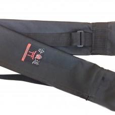 Чехол плотный для оружия с карманом черный (145 см)