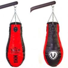 Чехол боксерского мешка Кегля кожаный (без наполнителя) VELO VL-3382-100 (d-30см, h-100см)