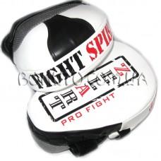 Изогнутые лапы Zelart Pro Fight (кожа)