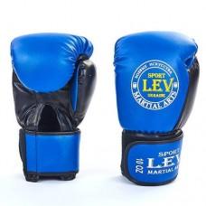 Боксерские перчатки Стрейч на липучке ЛЕВ LV-4280-B ТОП
