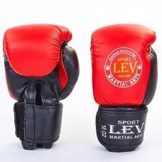 Боксерские перчатки Стрейч на липучке ЛЕВ LV-4280-R ТОП