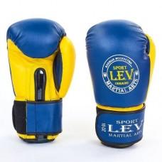 Боксерские перчатки Стрейч на липучке ЛЕВ LV-4281-B КЛАСС