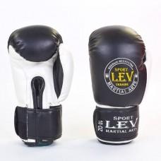 Боксерские перчатки Стрейч на липучке ЛЕВ LV-4281-BK КЛАСС