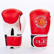 Боксерские перчатки Стрейч на липучке ЛЕВ LV-4281-R КЛАСС