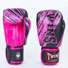 Боксерские перчатки кожаные на липучке  TWINS FBGV-TW2PK