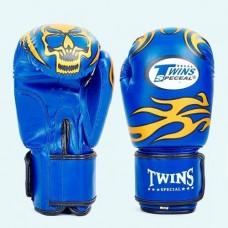 Боксерские перчатки DX на липучке TWINS MA-5435-B