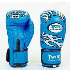 Боксерские перчатки кожаные на липучке  TWINS MA-5436-B