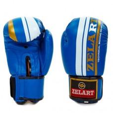 Боксерские перчатки FLEX на липучке ZEL  ZB-4275-B