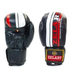 Боксерские перчатки FLEX на липучке ZEL  ZB-4275-BK