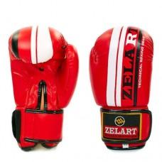 Боксерские перчатки FLEX на липучке ZEL  ZB-4275-R