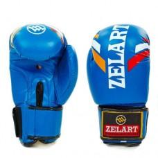 Боксерские перчатки FLEX на липучке ZEL  ZB-4276-B