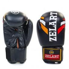 Боксерские перчатки FLEX на липучке ZEL  ZB-4276-BK