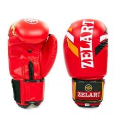 Боксерские перчатки FLEX на липучке ZEL  ZB-4276-R