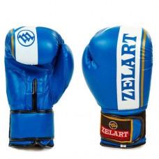 Боксерские перчатки FLEX на липучке ZEL  ZB-4277-B