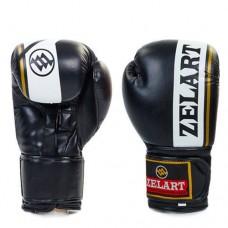 Боксерские перчатки FLEX на липучке ZEL  ZB-4277-BK