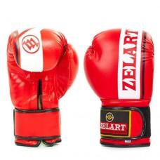 Боксерские перчатки FLEX на липучке ZEL  ZB-4277-R