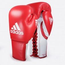 Боксерские перчатки кожаные на шнуровке  ADIDAS GLORY