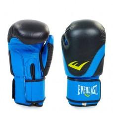 Боксёрские перчатки кожаные на липучке  ELAST BO-3631-BK