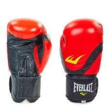 Боксёрские перчатки кожаные на липучке  ELAST BO-3631-R