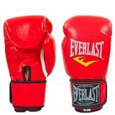 Боксерские перчатки PU на липучке ELAST BO-3987-R