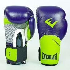 Боксерские перчатки ELAST PRO STYLE ELITE BO-5228-G (фиолетовые-салатовые)