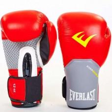 Боксерские перчатки ELAST PRO STYLE ELITE BO-5228-R (красные-серые)