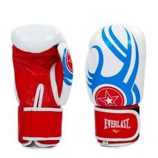Боксёрские перчатки кожаные на липучке  ELAST BO-6162-R
