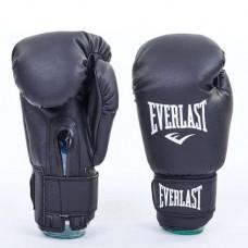 Боксерские перчатки кожезаменитель на липучке ELAST UR LV-5378-BK