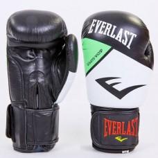Боксёрские перчатки кожаные на липучке ELAST MA-6748-G