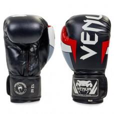 Боксерские перчатки Venum Elite натуральная кожа BO-5238-BKW