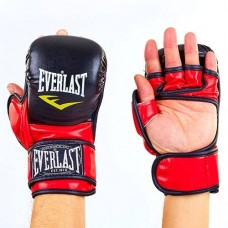 Перчатки  гибридные для единоборств ММА PU ELAST BO-4612-BKR