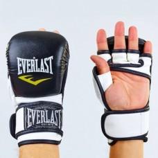 Перчатки  гибридные для единоборств ММА PU ELAST BO-4612-BKW