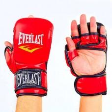 Перчатки  гибридные для единоборств ММА PU ELAST BO-4612-R