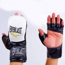 Перчатки  гибридные для единоборств ММА PU ELAST -BO-4612-WBK