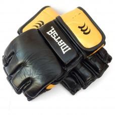 Перчатки  гибридные для единоборств ММА кожаные MATSA ME-2010-BK