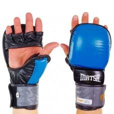 Перчатки  гибридные для единоборств ММА кожаные MATSA ME-2011-B