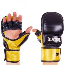 Перчатки  гибридные для единоборств ММА кожаные MATSA ME-2011-BK