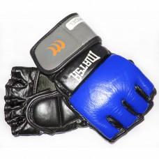 Перчатки  гибридные для единоборств ММА кожаные MATSA ME-2010-B