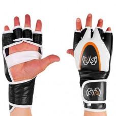 Перчатки  для смешанных единоборств ММА кожаные RIV MA-3305-BK