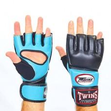 Перчатки  для  смешанных единоборств ММА кожаные TWINS GGL-4-LB