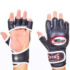 Перчатки  для  смешанных единоборств ММА кожаные TWINS GGL-6-BK