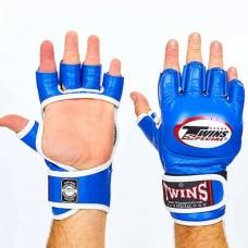 Перчатки  для  смешанных единоборств ММА кожаные TWINS GGL-6-BU
