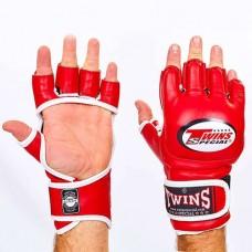 Перчатки  для  смешанных единоборств ММА кожаные TWINS GGL-6-RD
