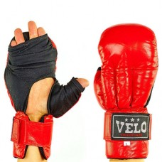 Перчатки  для рукопашного боя  кожаные  на липучке VELO VL-8104-R