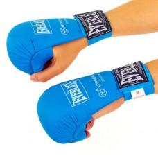 Перчатки для каратэ ELAST BO-3956-B (PU, р-р S-XL, синий, манжет на резинке)