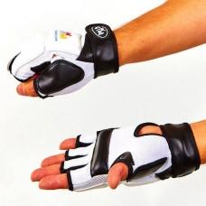 Перчатки для тхэквондо с фиксатором запястья WTF BO-4464-W