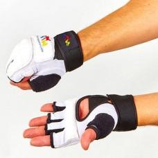 Перчатки для тхэквондо с фиксатором запястья WTF BO-4617-W