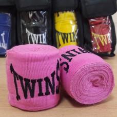 Бинты боксерские (2шт) хлопок с эластаном TWINS MA-5466-3(P) (l-3м, розовый)