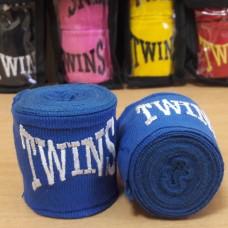 Бинты боксерские (2шт) хлопок с эластаном TWINS MA-5466-3(BL) (l-3м, синий)